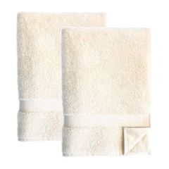 Made from 100% Certified Organic Cotton Luxury Bath Sheet (100 x 180 cm), Twin Pack - Bulk Buy and SAVE 10%
