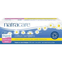 Natracare Organic Cotton Tampons non-applicator Super Plus (20 per pack) - Bulk buy and save 10%