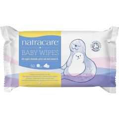 Natracare Baby Wipes (Pack of 50) - Bulk  Buy and Save 10%