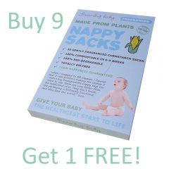 Beaming Baby Made From Plants Compostable Cornstarch Nappy Sacks FRAGRANCED 30 Sacks, Buy 9 Get 1 Free
