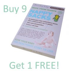 Beaming Baby Made From Plants Compostable Cornstarch Nappy Sacks FRAGRANCE-FREE 30 Sacks, Buy 9 Get 1 Free