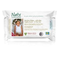 Best for baby - Alcohol, Chlorine & Fragrance Free Nature Babycare Sensitive Wipes with Aloe (56 wipes)