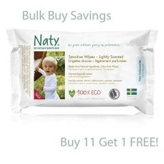 Alcohol, Chlorine Nature Babycare Sensitive Lightly Scented Wipes, Buy 11 get one FREE!