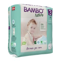 Bambo Nature Couches Medium, Taille 3 (5 à 9 kg), 28 Couches