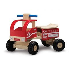 Wonderworld Ride-on Fire Engine Made with Non-toxic Paints and Laquers