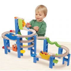 Beaming Baby Spiral Coaster Track - Beautifully Built Ball Run! Promote Cause and Effect Relationship and Discover where each Cute Coloured Ball Ends up!