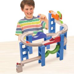 Beaming Baby Bouncing Spiral Track - Discover the Relationship of Cause and Effect and Watch in Wonder as the Balls JUMP off the Track!