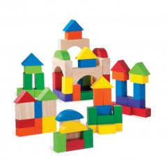 Made using sustainably harvested wood Beaming Baby 75 Pieces Blocks, 24 Months +