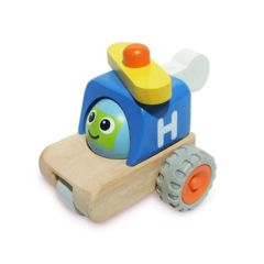 Made using sustainably harvested wood Beaming Baby Smiley Helicopter, 12 Months +