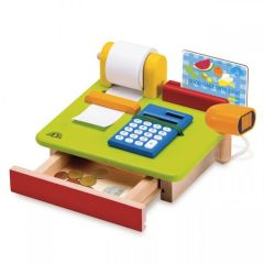Made using sustainably harvested wood Beaming Baby Wonder Cashier Wooden Toddler Toy 36 Months +
