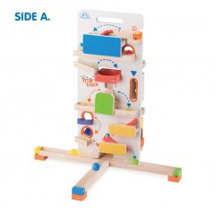 Made using sustainably harvested wood Beaming Baby Tower Launcher Wooden Toddler Toy 36 Months +