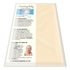 100% Softest Certified Organic Cotton Beaming Baby Fitted Cot Sheet Chemical-Free! (fits up to 60cm x 120cm)
