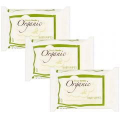 Pack of 3 Simply Gentle Organic Baby Wipes