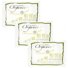 Simply Gentle Organic Cotton Cloths Pack of 3 - SAVE 10%