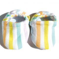 Beaming Baby Organic Cotton Booties Stripe and Star