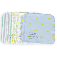 Beaming Baby Organic Cotton Reusable Baby Wipes Pack of 6 (20cm x 20cm)