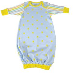 Beaming Baby Organic Cotton Baby Gown Star and Stripe