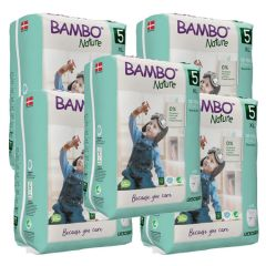 Bambo Nature Trainer Pants XL (Size 5) 95 Pull-up Nappies (Case of 5) - Bulk Buy and SAVE!