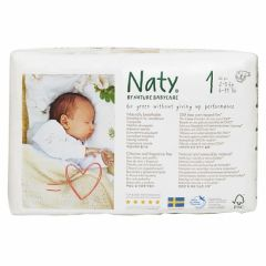 Nature Babycare Couches Newborn Taille 1 (26 couches) 2 à 5 kg