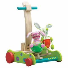 Beaming Baby Hopping Bunny Walker, Wooden Baby Toy