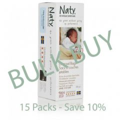 Nature Babycare Biodegradable Nappy Bags, Bulk Buy Pack of 15, Save £5.20!