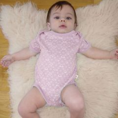 Made from the softest 100% organic cotton. Beaming Baby Chemical-Free Short Sleeve Envelope Neck Bodysuit