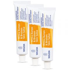 Weleda Arnica Bumps and Bruises Skin Salve PACK of 3 - SAVE 10% - A traditional herbal medicinal product used for the symptomatic relief of sprains and bruises