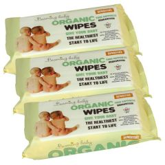 Uses 100% bio-degradable cloth - Certified Organic Baby Wipes Triple Pack (216 wipes) - Save 3%